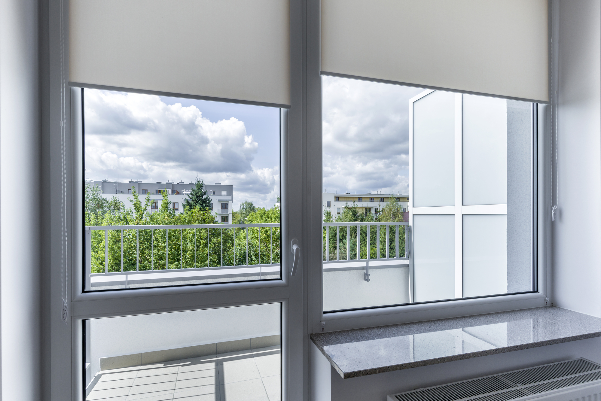 window in small economic room. Black Bedroom Furniture Sets. Home Design Ideas