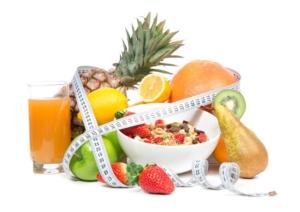 Obst mit Zentimetermaß